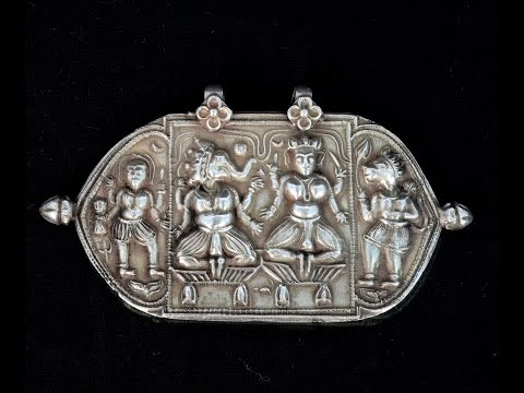 Antique Indian Silver Religious Jewellery necklace pendant.G10-63