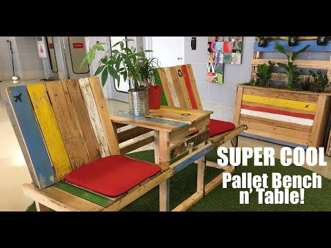 Easy Pallet Deck Bench AND Table- DIY Building with Junk