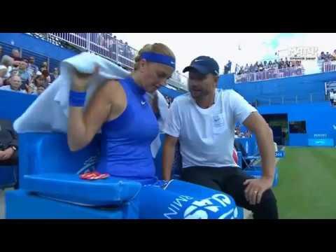 Petra Kvitova and her new coach Jiri Vanek in Birmingham final 2017