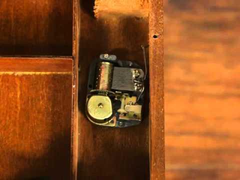 MVI 8661Jewel Chest & Vintage Italian Inlaid Music Box Table