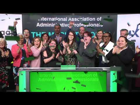 International Association of Administrative Professionals opens Toronto Stock Exchange, 04/23/18