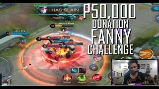 50,000 DONATION FANNY CHALLENGE - MOBILE LEGENDS - 1000 DIAMONDS GIVEAWAY - RANK - PH VS INDO