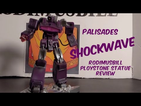 Transformers Palisades Shockwave Polystone Mini Statue Review
