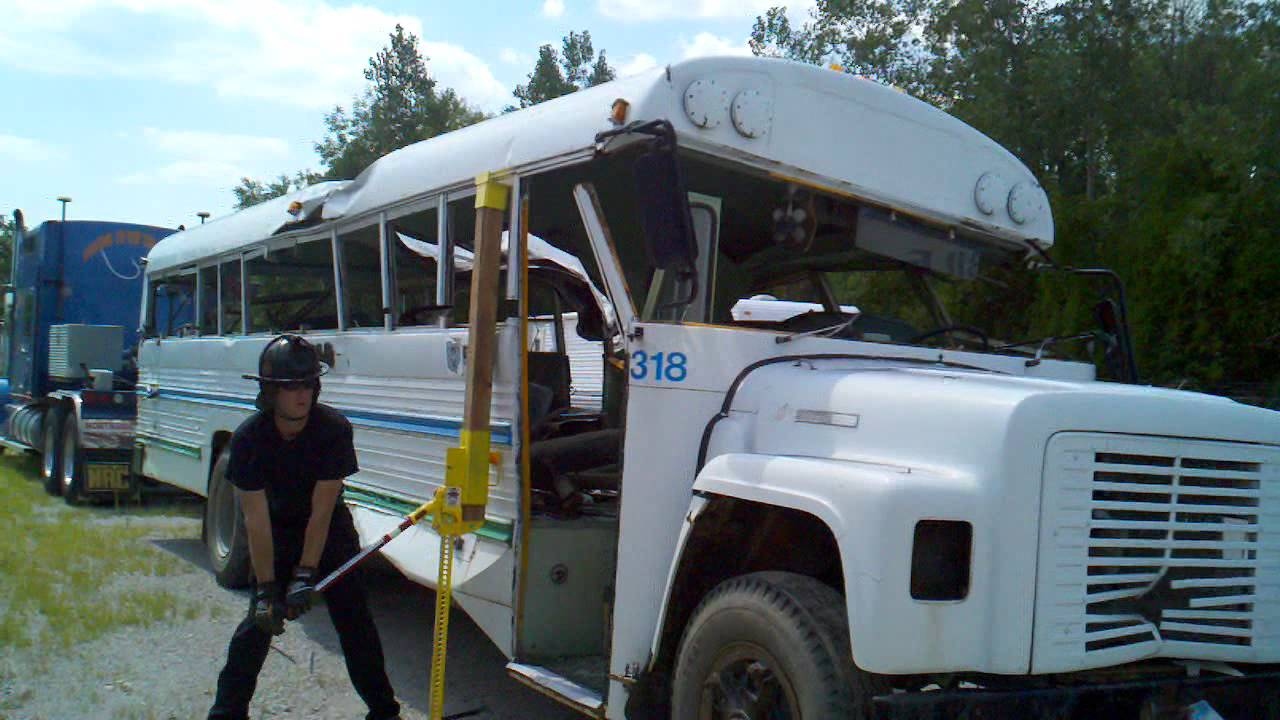 School Bus Roof Lift With High Lift Jack And Sleeve Youtube