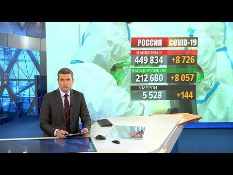В России за последние сутки выявлено 8726 случаев заболевания коронавирусной инфекцией.