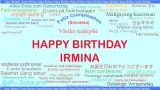Irmina   Languages Idiomas - Happy Birthday