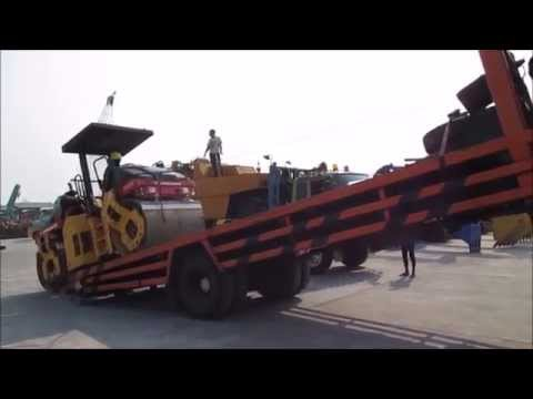 Jakarta Auctions - Loading Dynapac Double Drum Roller