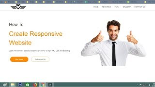 Hoe om de Website Te Maken Met HTML CSS Bootstrap | Responsive Website Tutorial