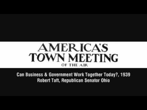 Sen. Robert Taft on government intervention