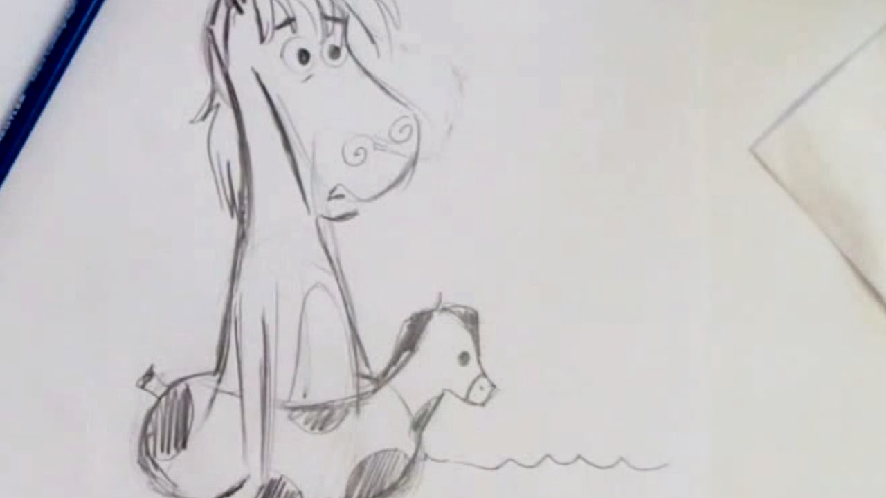 How To Draw A Wacky Horse (step By Step) Youtube