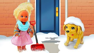 Штеффи съела сосульку и заболела! Мультики для девочек - Куклы Барби