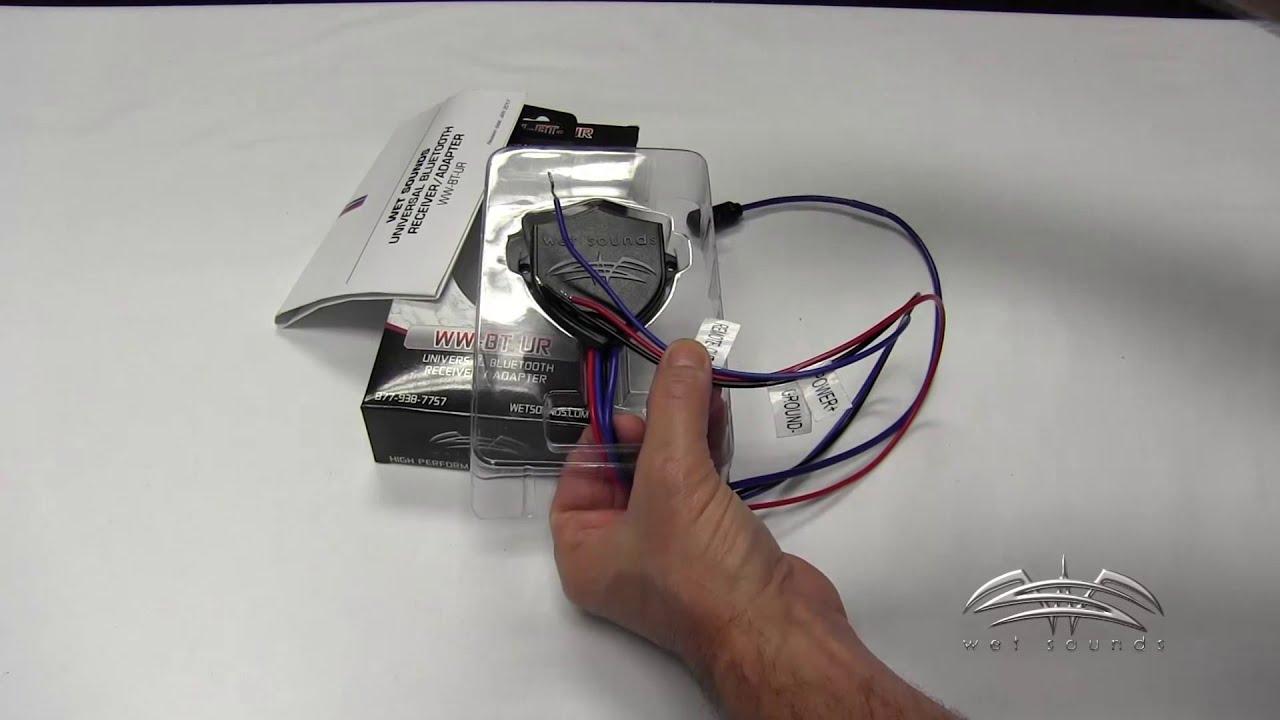 medium resolution of wet sounds wet wire bluetooth universal reciever ww bt ur