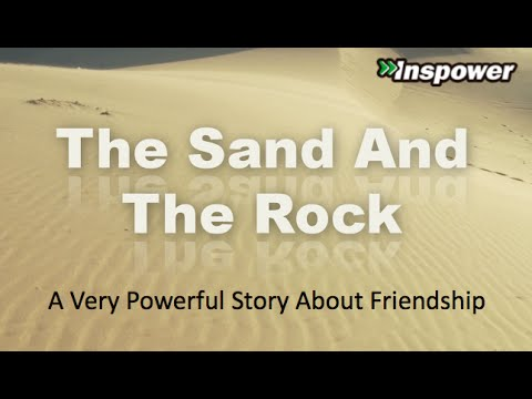 The Sand And The Rock Short Story About Friendship Youtube