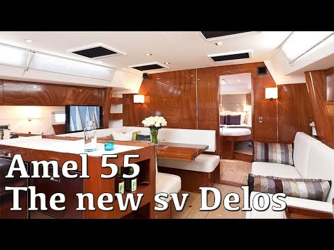 The newer SV Delos - AMEL 55 at the Southampton Boat Show 2017
