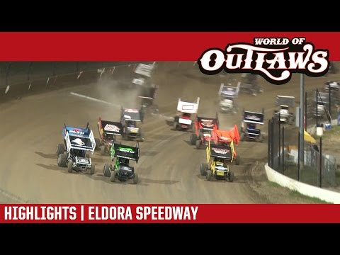 World of Outlaws Craftsman Sprint Cars Eldora Speedway May 13, 2017 | HIGHLIGHTS