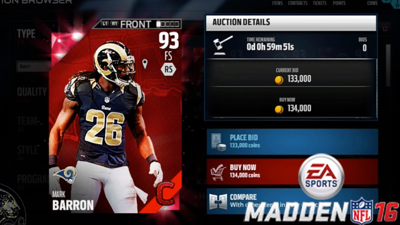 best authentic a4d7d 5ecb2 CAMPUS HERO MARK BARRON! WHO GETS FIRED??! - Madden 16 Ultimate Team | MUT  16 PS4 Gameplay