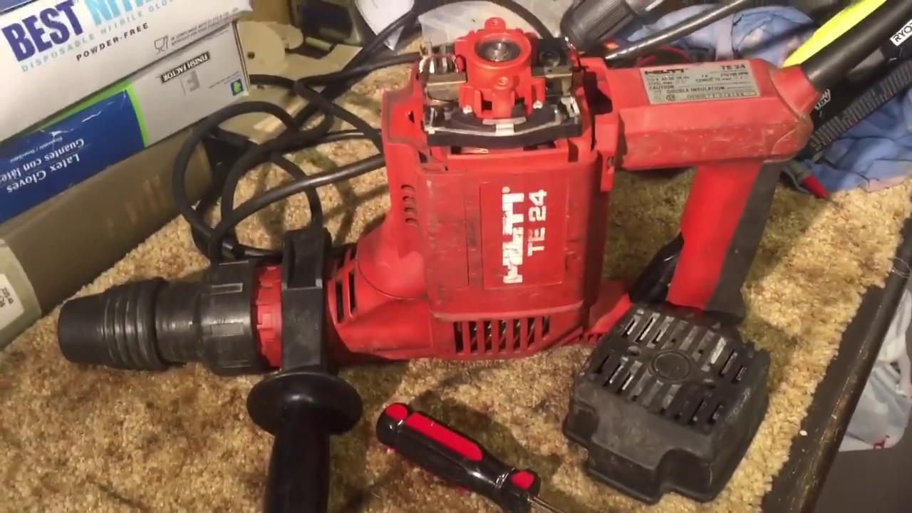 hilti te24 impact hammer drill repair youtube rh youtube com Hilti Tools Hilti Tools
