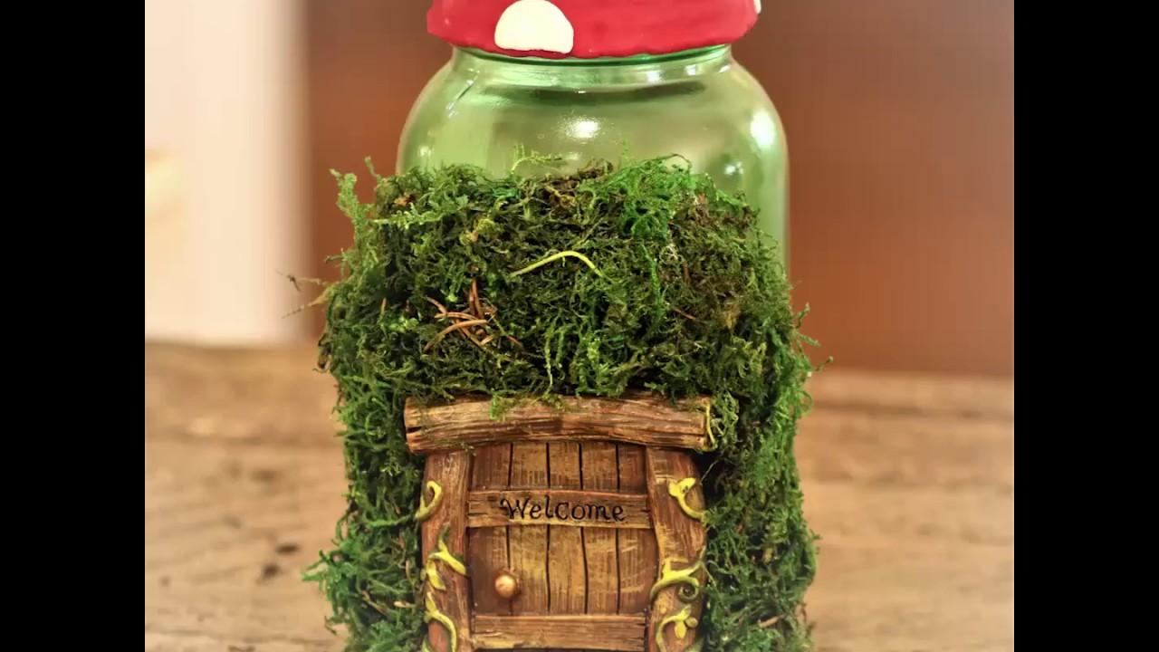 Magical Mason Jar Fairy Garden - YouTube
