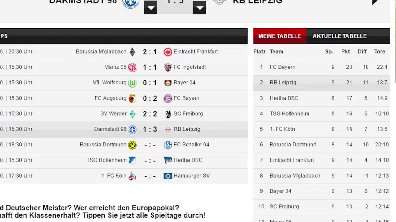 9 Spieltag Bundesliga