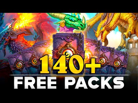 Getting 140 FREE Descent Of Dragons Packs Without SPENDING MONEY! Hearthstone Resource Report.