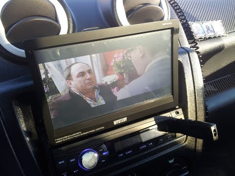 Лучшая 1 дин магнитола с выдвижным экраном с Алиэкспресс  Обзор и установка