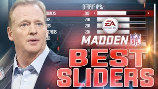 MADDEN NFL 18 Best Sliders For Online & Offline Franchise