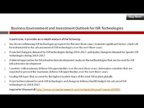 Business Environment and Investment Outlook for ISR Market Technologies 2014-2017