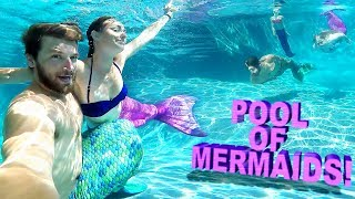 😲POOL FULL OF MAGICAL MERMAIDS!! 🎏 thumbnail