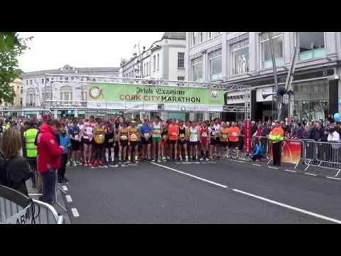 Start of the Irish Examiner Cork City Marathon 2015 (right)