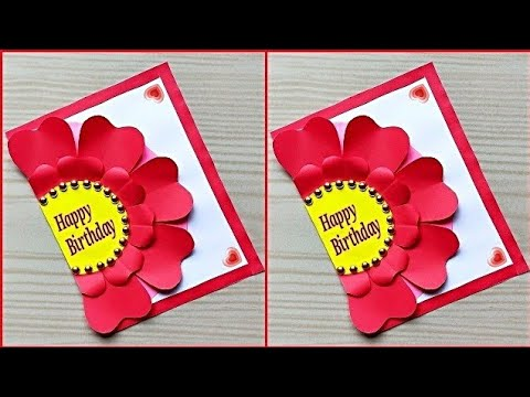 How to make special birthday card for best friend / Beautiful handmade birthday card idea
