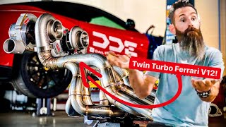 AARON KAUFMAN FINISHES TWIN TURBO FERRARI F12 MANIFOLDS *MAJOR UPDATE*