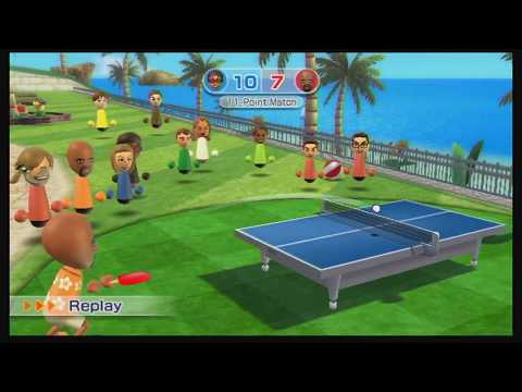 An Intensive Wii Ping Pong Game With The Greatest