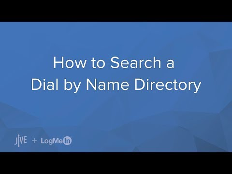 How Do I Search A Dial By Name Directory?
