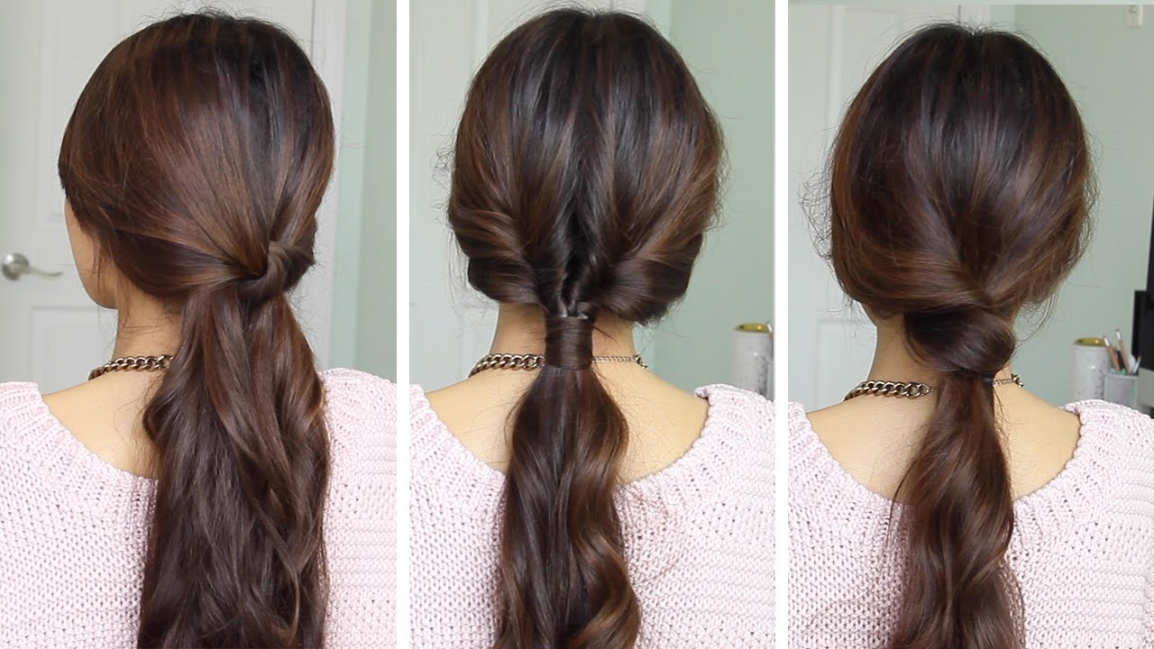 Running Late Ponytail Hairstyles Hair Tutorial YouTube