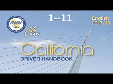 California Driver Handbook | Audiobook...(REAL VOICE)...DMV......1--11