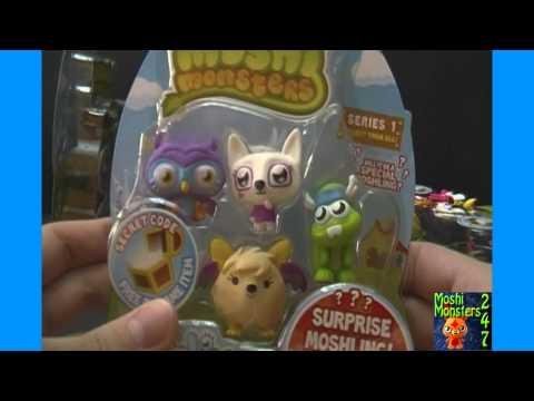 Moshi Monsters Moshlings Series 1 Blister Pack BOX Opening