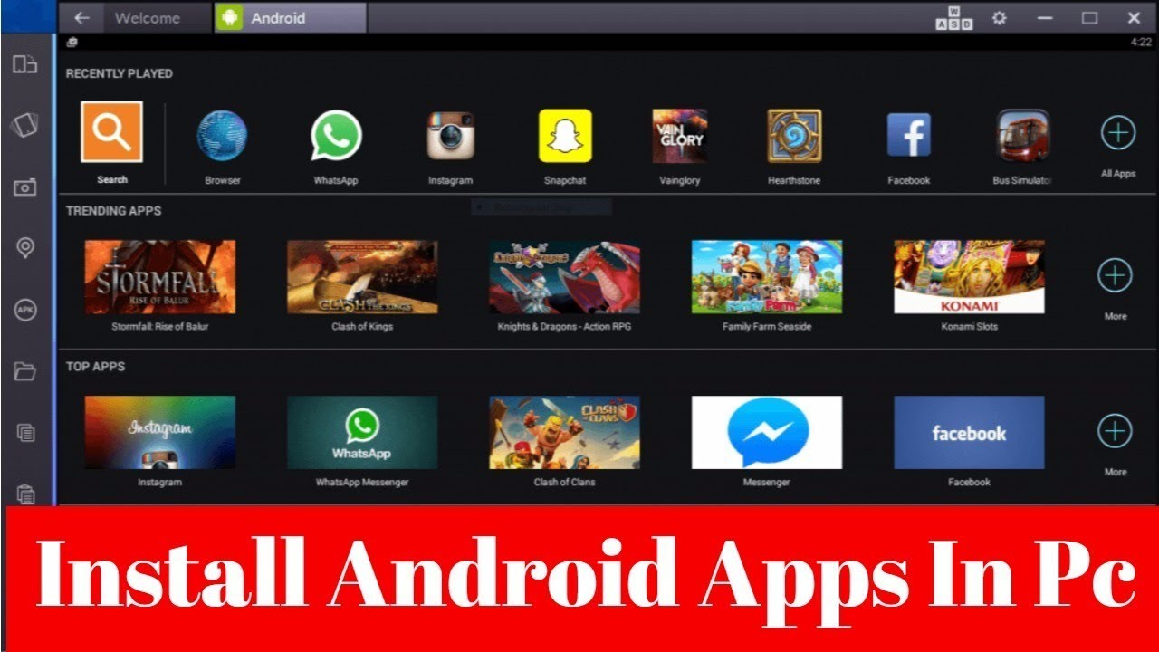 install android apps on pc windows 10