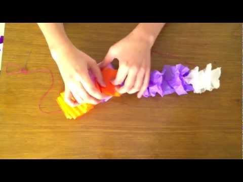 Crepe Paper Hawaiian Lei