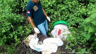 Kronologi Penemuan Mayat Wanita Dalam Tong, Ditemukan Pemulung Terbungkus Seprai Dan Tubuh Terikat