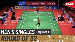 TOYOTA Thailand Open | Day 2: Prannoy H. S. (IND) vs. Jonatan Christie (INA) [6]