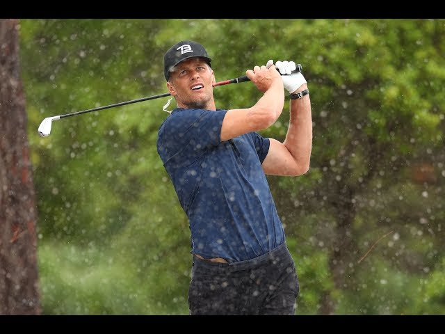 Tom Brady Drills Shot Of The Day On Hole 7 After Chuck Bets Against Him   Capital One's The Match