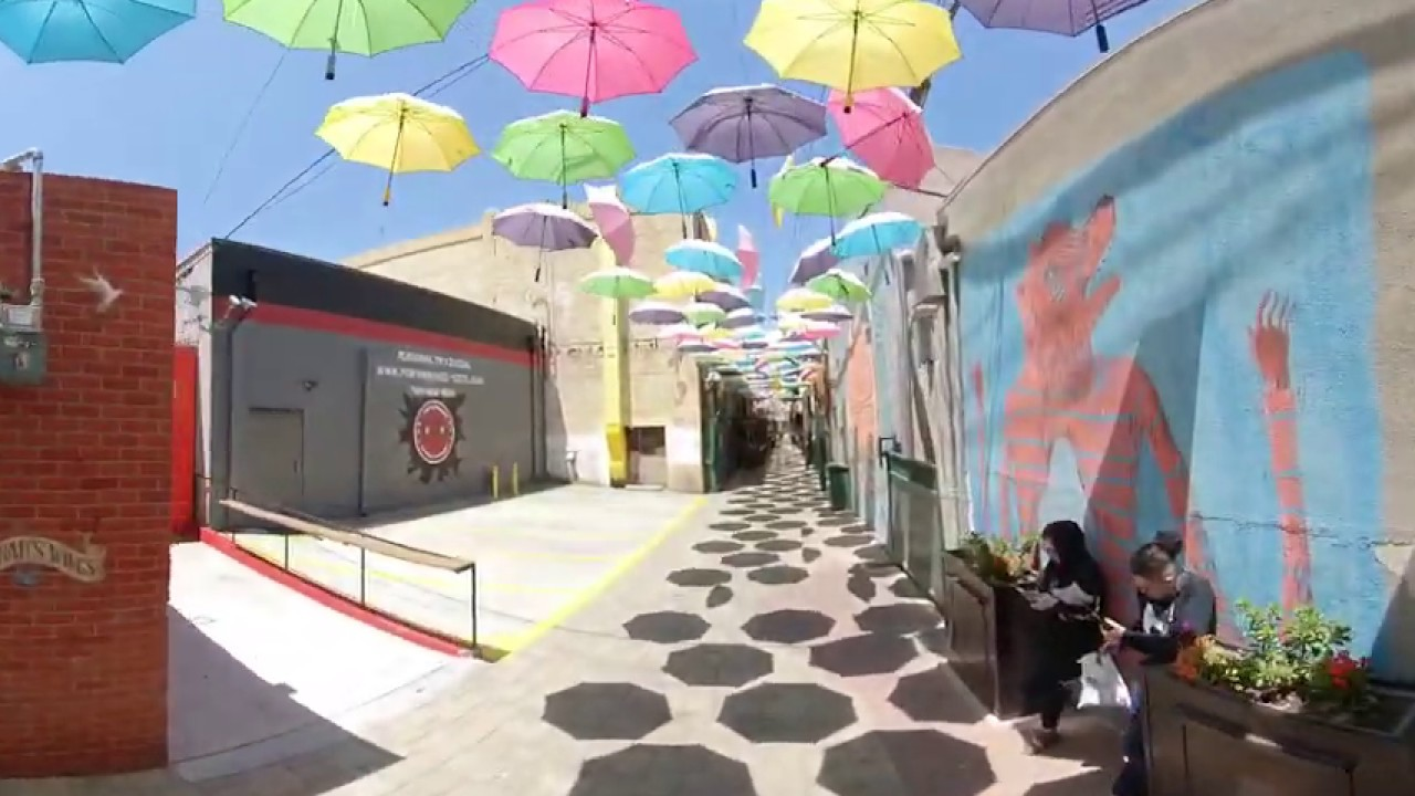 Umbrella Alley in Redlands- 360 Walkthrough Video of Orange St Alley