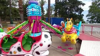 Antalya Karaalioğlan parkı gezintimiz deniz manzarası ve mini lunapark keyfi, çocuk videosu
