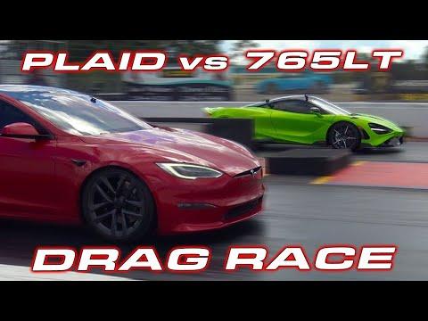 Tesla Model S Plaid vs McLaren 765LT: This drag race is no contest