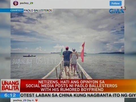 UB: Netizens, hati ang opinyon sa social media post ni Paolo Ballesteros with his rumored boyfriend