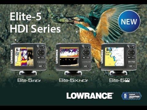 Эхолот Lowrance Elite 5 x HDI видео тест