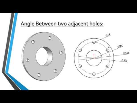 Calculation of distance between two adjacent holes on P.C.D.