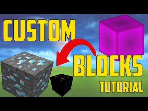 MINECRAFT Custom Blocks Texture Pack DOWNLOAD (mcpe/bedrock/xbox One)
