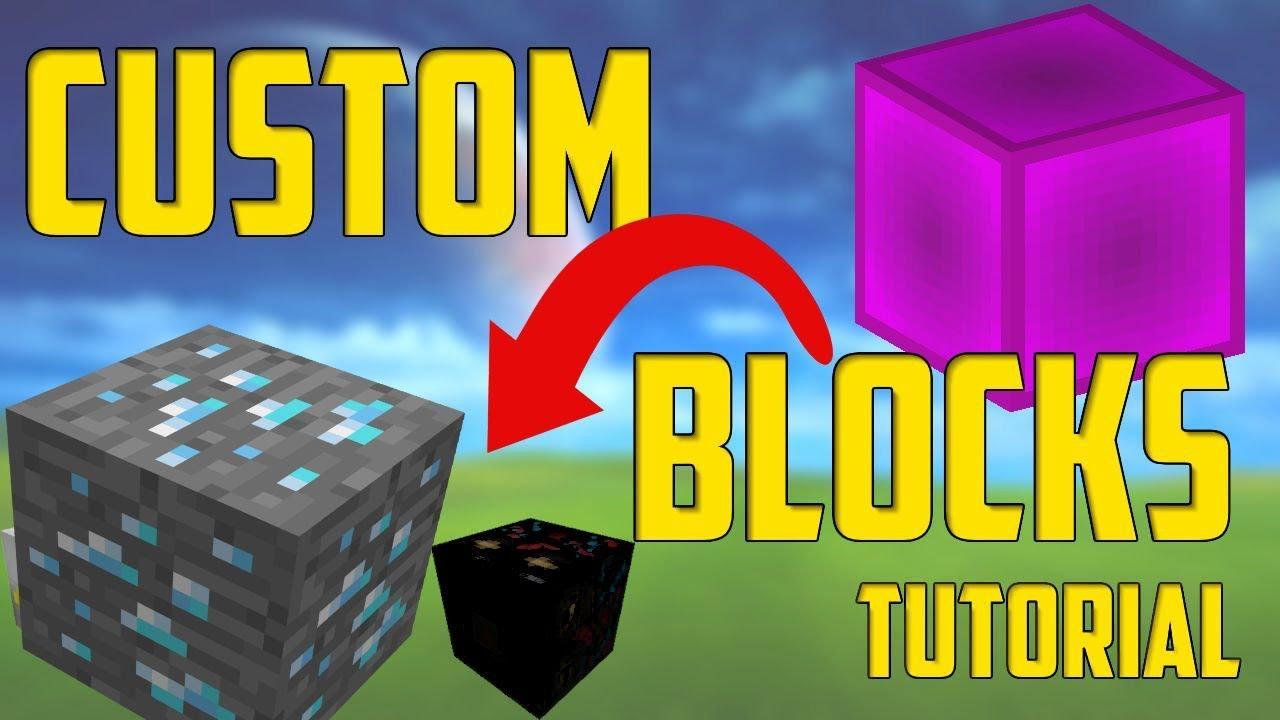 MINECRAFT Custom Blocks Texture Pack DOWNLOAD (mcpe/bedrock/xbox one) - YouTube