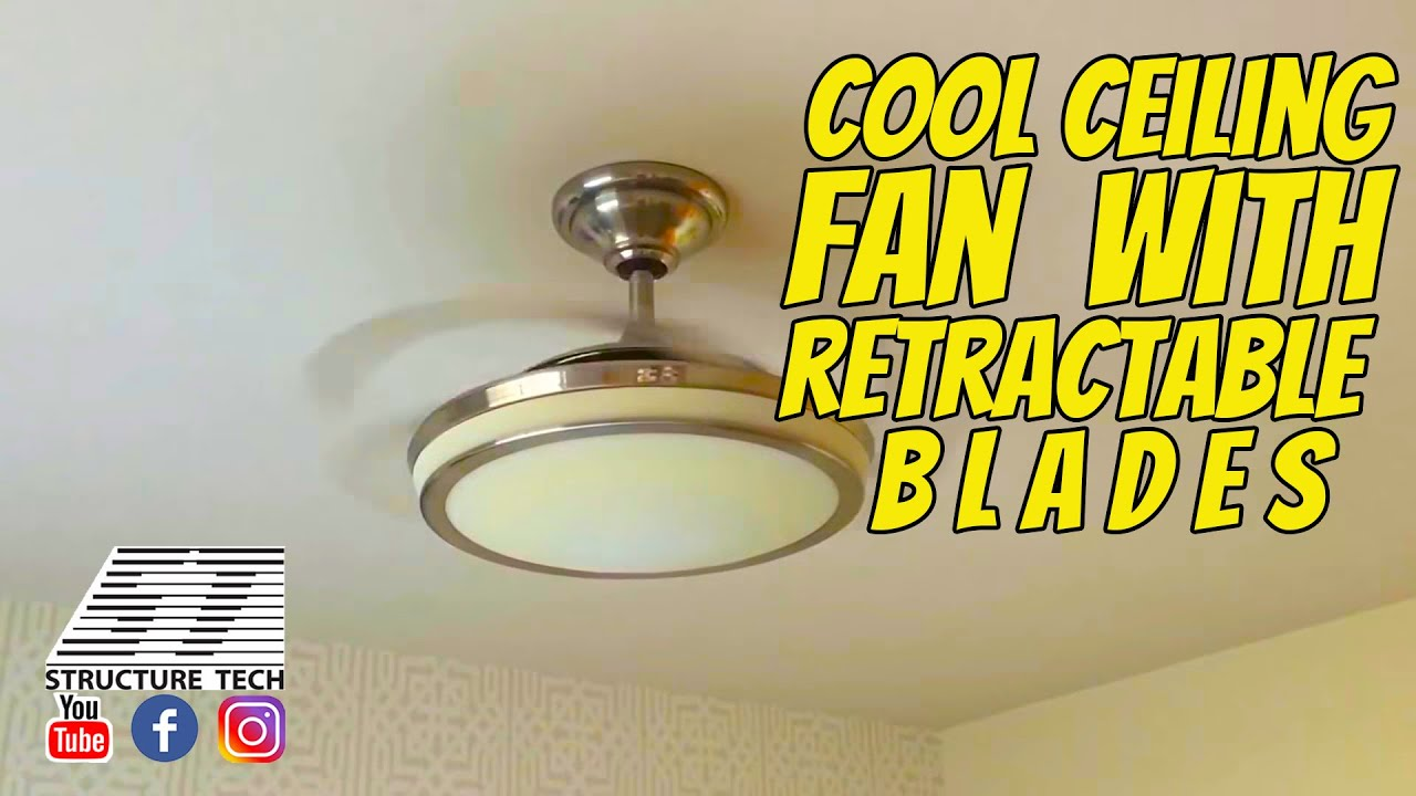 Ceiling Fan With Folding Blades Cool Ceiling Fan With Retractable Blades